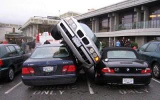 Как составить европротокол при ДТП на парковке