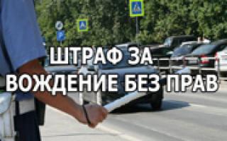 Какой штраф за вождение и управление ТС без прав