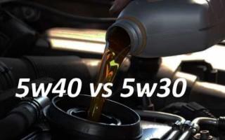 Какое масло лучше 5w30 или 5w40 зимой